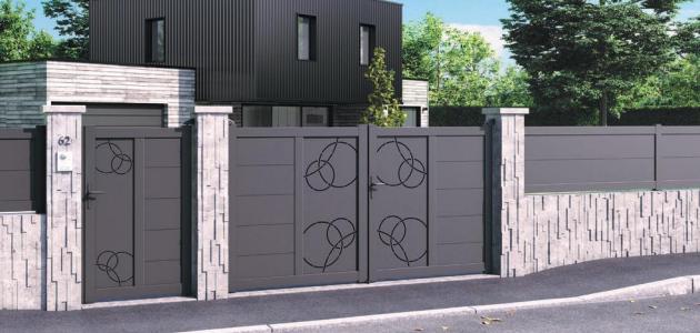 portail aluminium aquarelle gamme variation jardimat