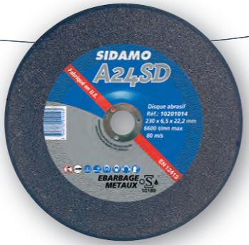 DISQUE A 30 RD - Ébarbage acier / inox - Pour meules d'ébarbage 10201020 SIDAMO