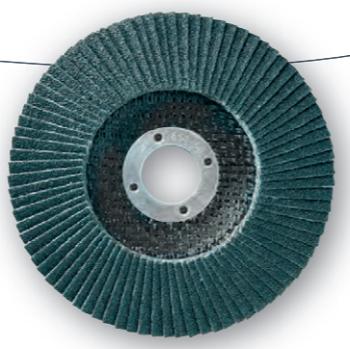 DISQUE A LAMELLES Ø125 mm - LAMDISC (CONVEXE) Zirconium - Support fibre - Ponçage inox 11001031 SIDAMO